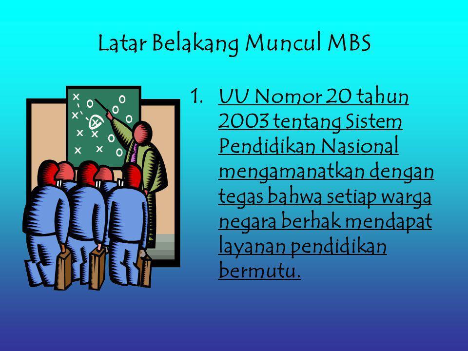 Manajemen Berbasis Sekolah (MBS)