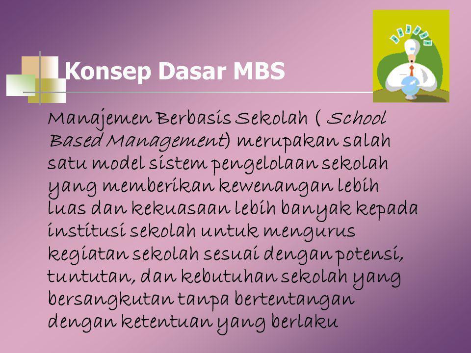 Lanjutan… 5. Hasil penelitian di berbagai negara membuktikan bahwa implementasi MBS secara benar dan consisten dapat meningkatkan mutu pendidikan anak