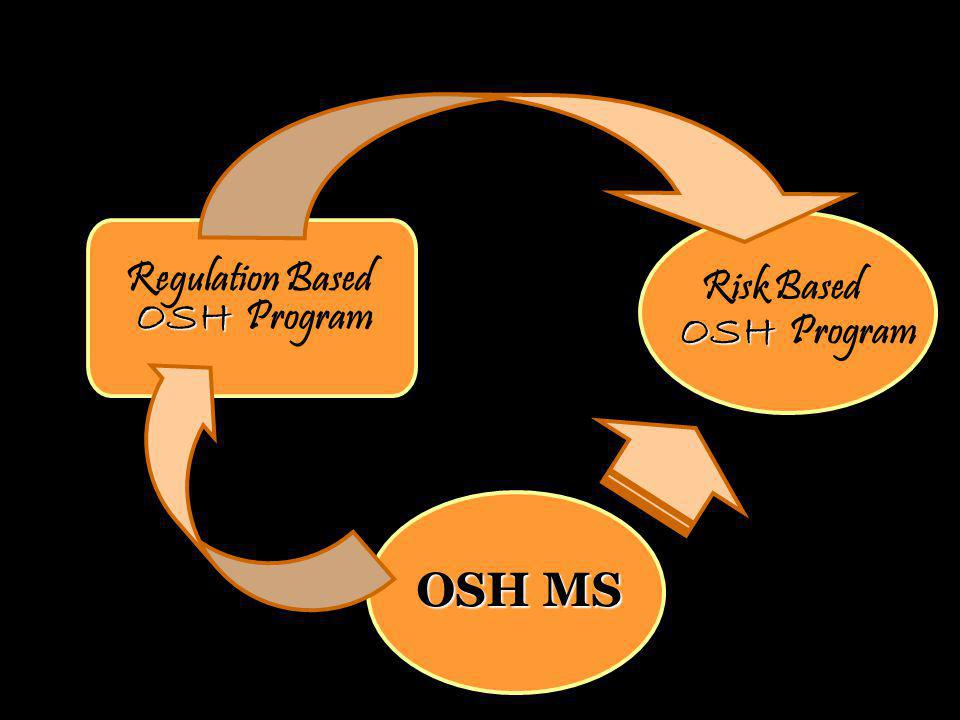 ILO The most efficient way to build a sustained safety culture Establishment of OSH MS