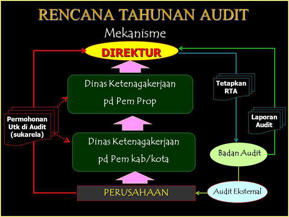 Persyaratan Auditor Eksternal Senior 1.Pengalaman sbg Auditor Eksternal SMK3 minimal 1 th 2.Tlh melaksanakan Audit kesesuaian dari Audit Eksternal SMK