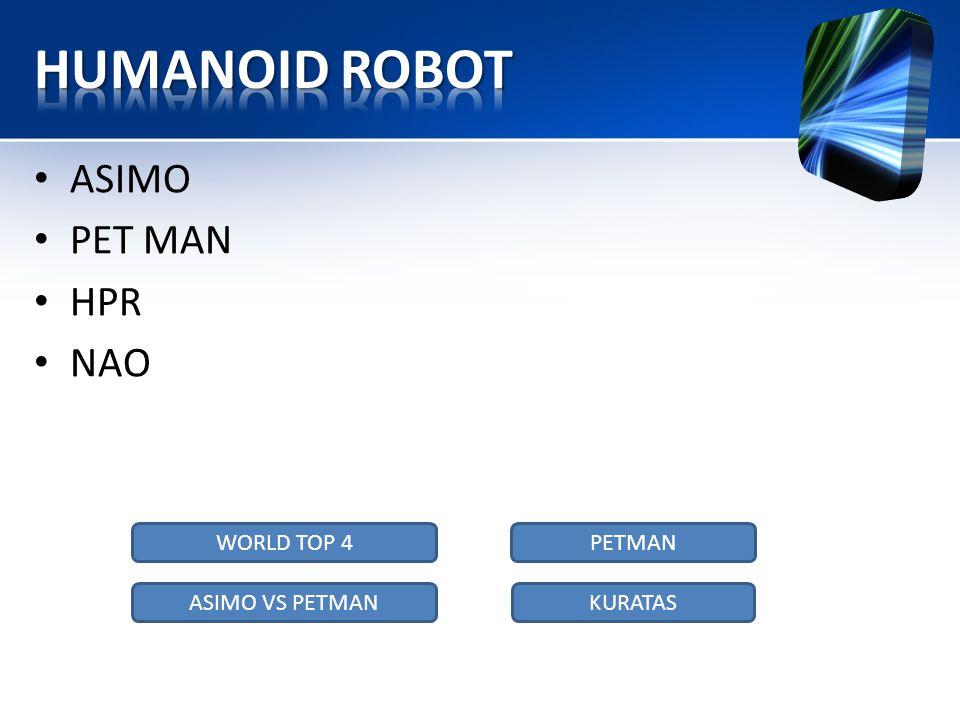 • ASIMO • PET MAN • HPR • NAO WORLD TOP 4 KURATASASIMO VS PETMAN PETMAN