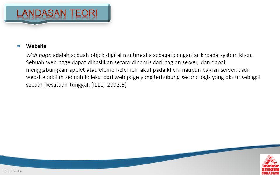 01 Juli 2014 Website Web page adalah sebuah objek digital multimedia sebagai pengantar kepada system klien.