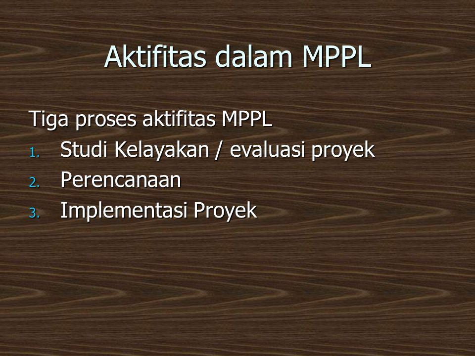 Aktifitas dalam MPPL Tiga proses aktifitas MPPL 1.