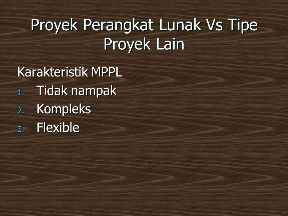 Proyek Perangkat Lunak Vs Tipe Proyek Lain Karakteristik MPPL 1.