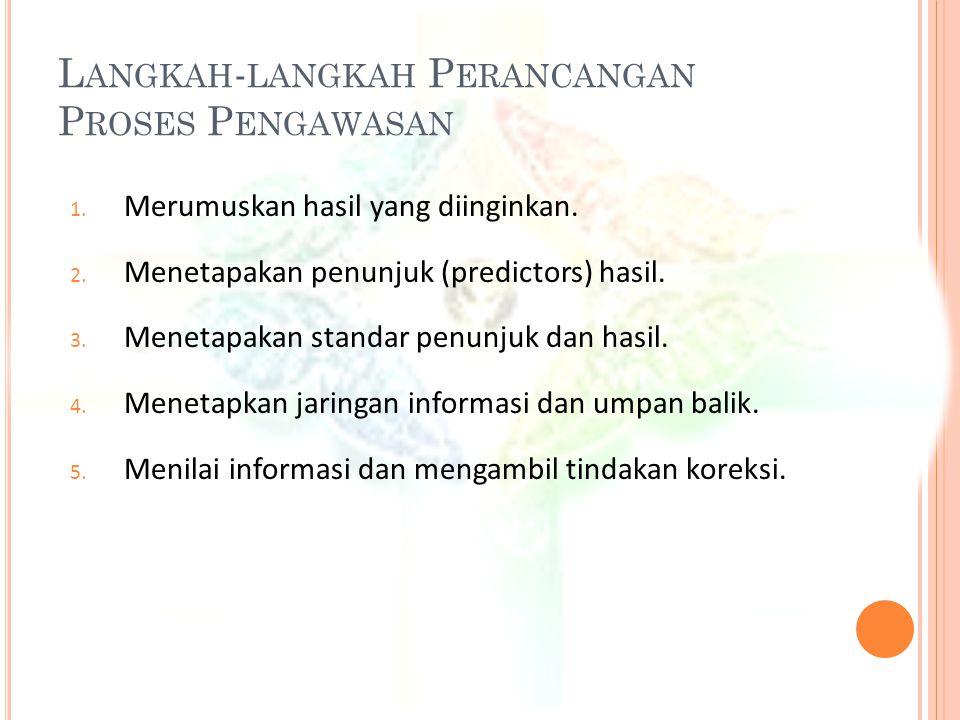 K ARAKTERISTIK - KARAKTERISTIK P ENGAWASAN Y ANG E FEKTIF 1.