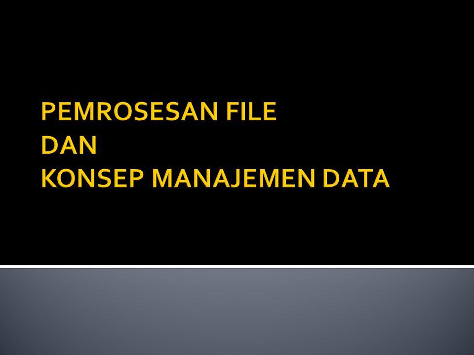 Field, Item Data, Atribut, dan Elemen sering digunakan bergantian untuk menggambarkan bagian terkecil dalam data yang akan disimpan dan dimunculkan kembali dalam sebuah sistem informasi.