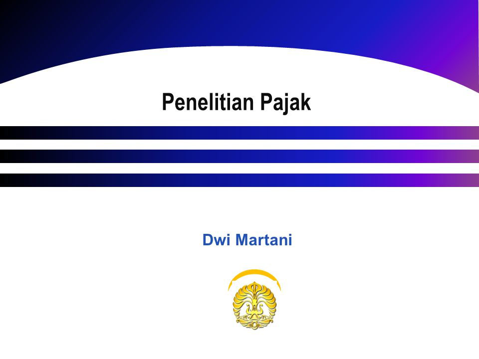 Penelitian Pajak Dwi Martani