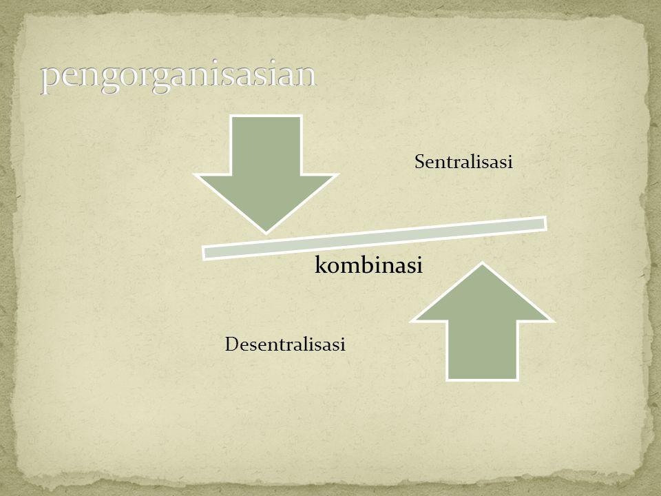 kombinasi Sentralisasi Desentralisasi