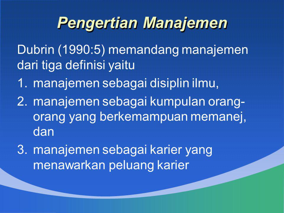 Tujuan Manajemen Kualitas menunjukkan kepada suatu ukuran penilaian atau penghargaan yang diberikan atau dikenakan kepada barang (products) dan/atau jasa (services) tertentu berdasarkan pertimbangen objektif atas bobot dan/atau kinerjanya (Pfeffer end Coote, 1991).