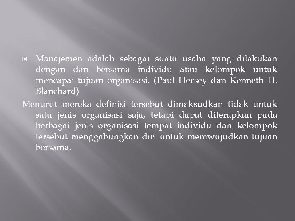Kalo begitu, apa itu MANAJEMEN?.