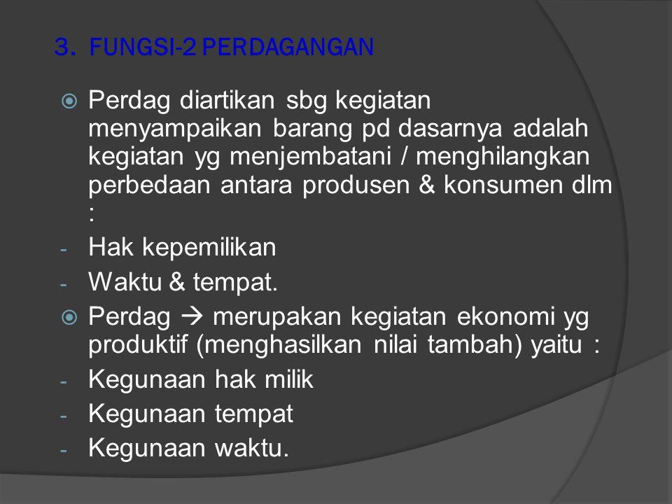 Sub sistem perdagangan Sub sistem perdagangan : 1) Pedagang  sub-sub sistemnya  pedagang pengumpul, pedagang besar / distributor/agen, pedagang gros