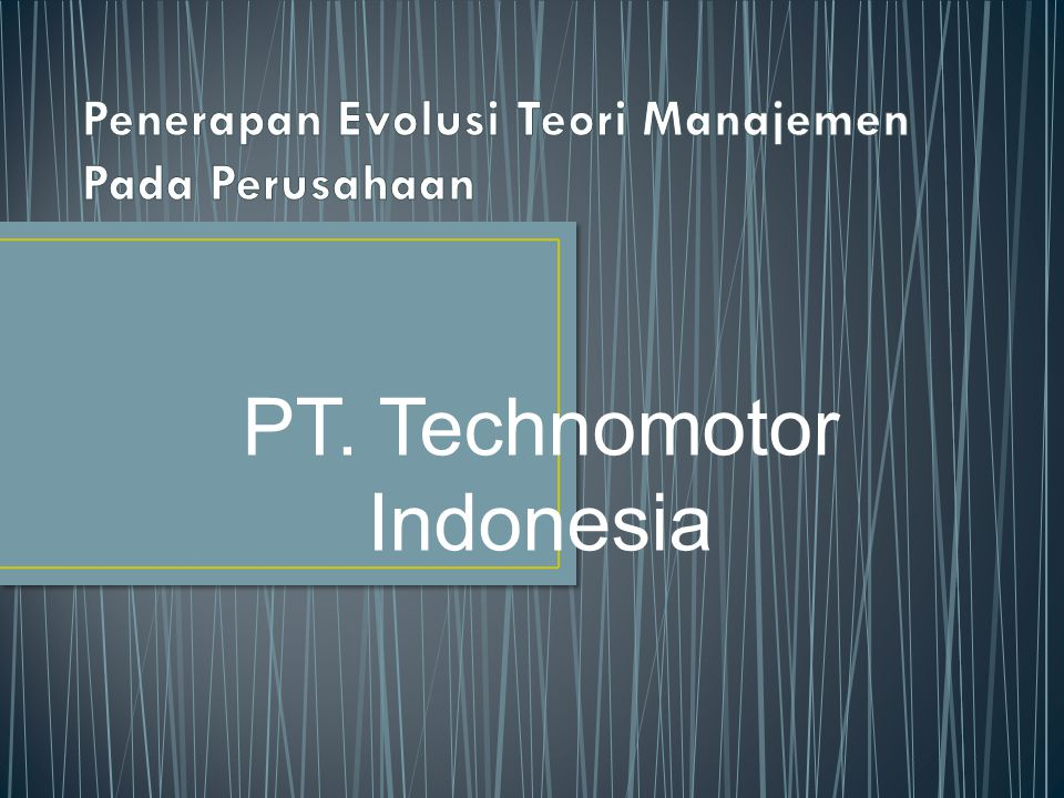 PT. Technomotor Indonesia