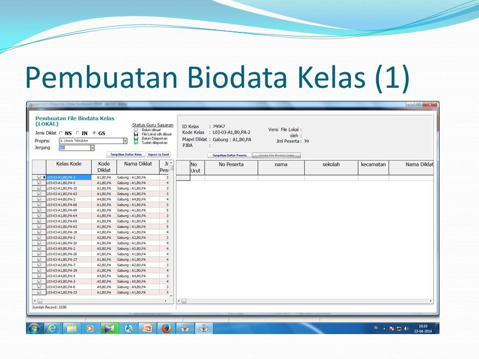 Pembuatan Biodata Kelas (1)