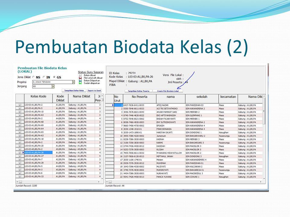 Pembuatan Biodata Kelas (2)