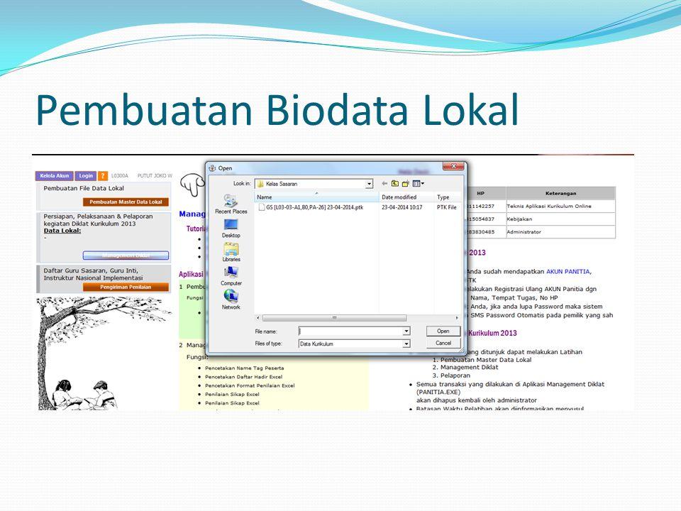Pembuatan Biodata Lokal