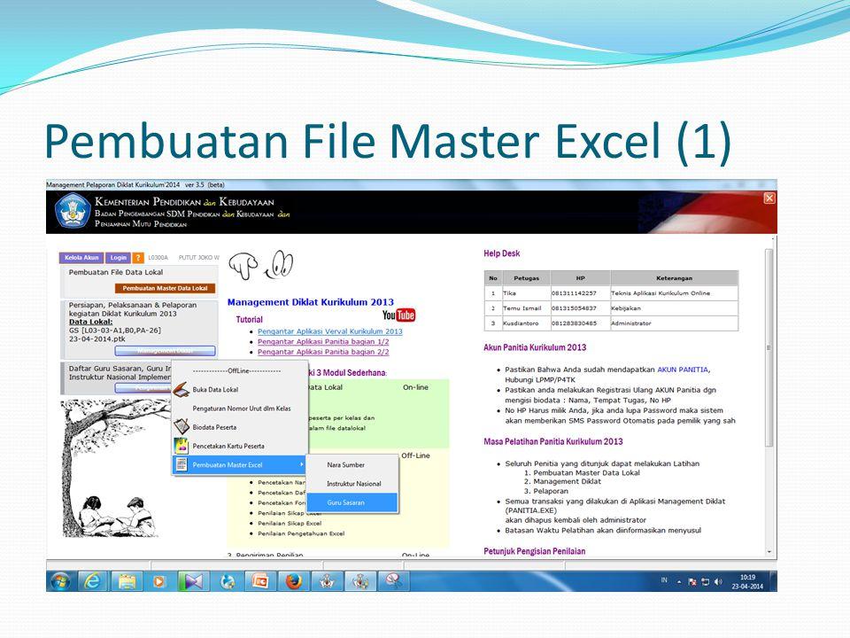 Pembuatan File Master Excel (1)