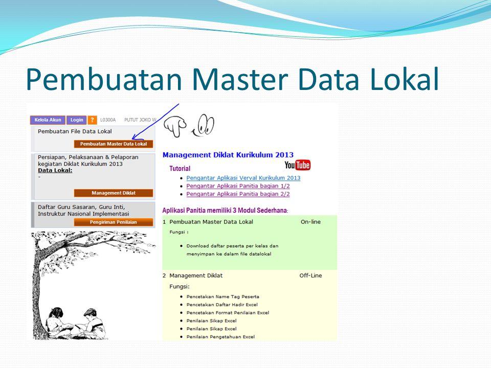 Pembuatan Master Data Lokal
