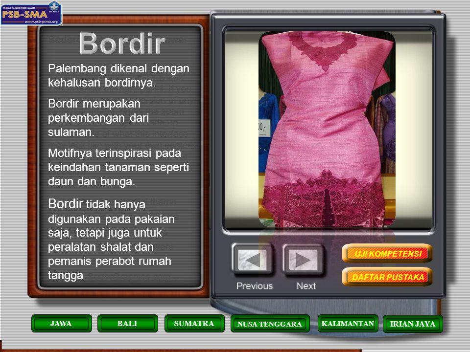 Sewet Songket/kain Songket adalah kain yang biasanya dipakai/dikenakan untuk membalut bagian bawah pakaian wanita. Awalnya, tidak diketahui persis kap