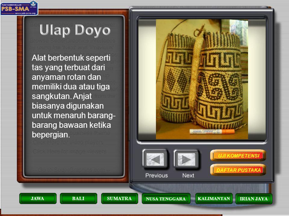 Kain dari serat daun doyo ini merupakan hasil kerajinan yang hanya dibuat oleh wanita-wanita suku Dayak Benuaq yang tinggal di Tanjung Isuy. Tanaman d