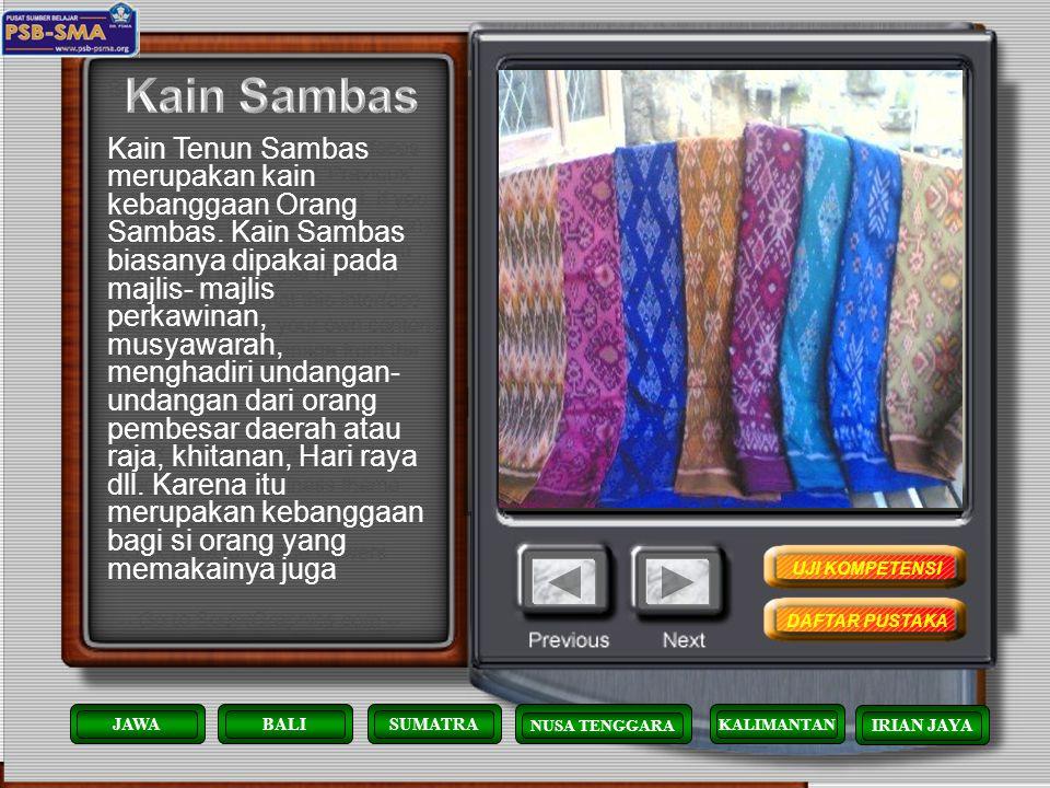 Kerajinan manik-manik khas suku Dayak biasanya dibuat menjadi pakaian, menghias topi/seraung maupun bening aban. Kini banyak hasil kerajinan manik- ma