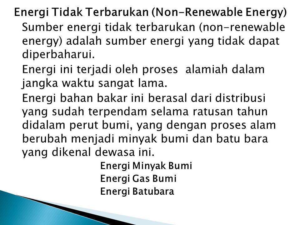 Pemanfaatan dan Kapasitas Terpasang Energi Baru dan Terbarukan di Indonesia (MW) Sumber Energi Potensi Kapasitas Terpasang Persentase Pemanfaatan 1000 x (SBM)(MW) (%) Panas Bumi 105610,6819658,00309,501,57 Mikrohidro 2464,59458,7520.854.54 Surya 2155.60.