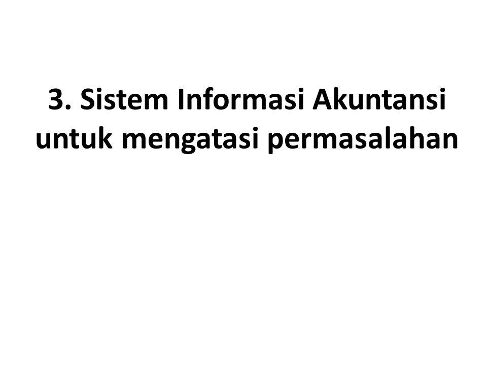 3. Sistem Informasi Akuntansi untuk mengatasi permasalahan