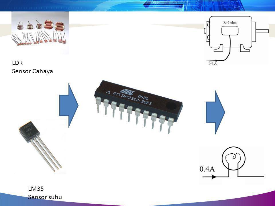 LM35 Sensor suhu LDR Sensor Cahaya