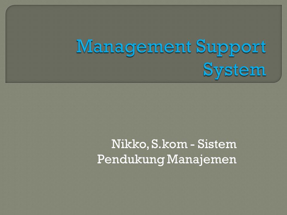 Nikko, S.kom - Sistem Pendukung Manajemen
