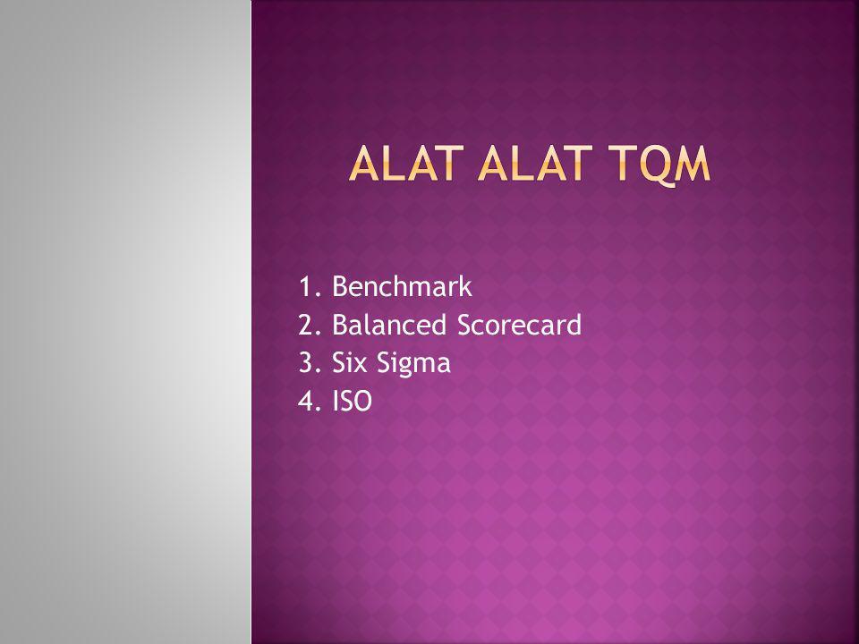 1. Benchmark 2. Balanced Scorecard 3. Six Sigma 4. ISO