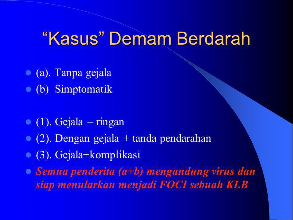 Kasus Demam Berdarah  (a).Tanpa gejala  (b) Simptomatik  (1).