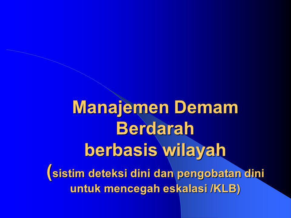Manajemen Demam Berdarah berbasis wilayah ( sistim deteksi dini dan pengobatan dini untuk mencegah eskalasi /KLB)