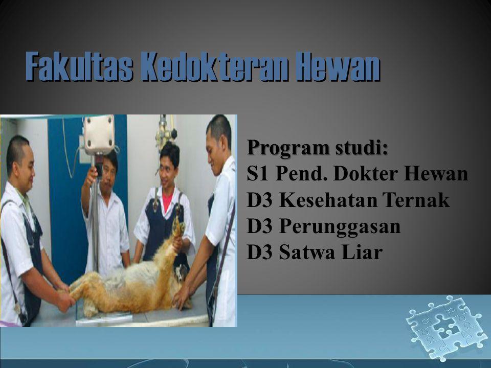 Fakultas Kedokteran Hewan Program studi: S1 Pend.