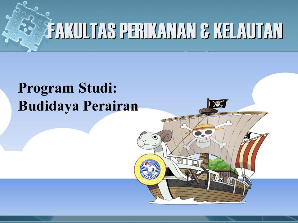 FAKULTAS PERIKANAN & KELAUTAN Program Studi: Budidaya Perairan