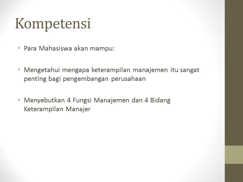 4 Fungsi Manajemen • Merencanakan • Mengatur • Mengarahkan • Mengontrol