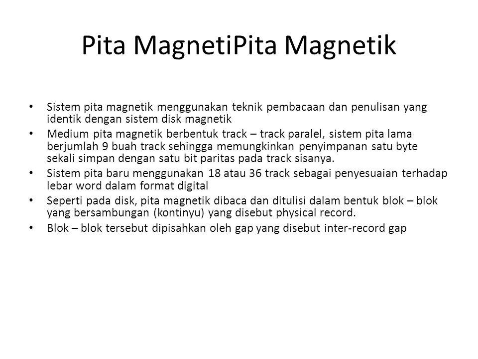 Lanjutan Pita MagnetiPita Magnetik Format fisik pita magnetik