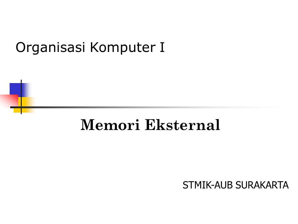 Memori Eksternal STMIK-AUB SURAKARTA Organisasi Komputer I