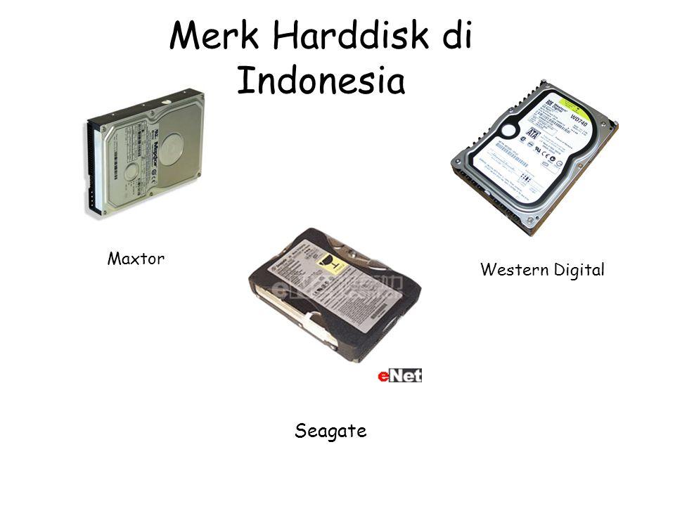 Merk Harddisk di Indonesia Seagate Maxtor Western Digital