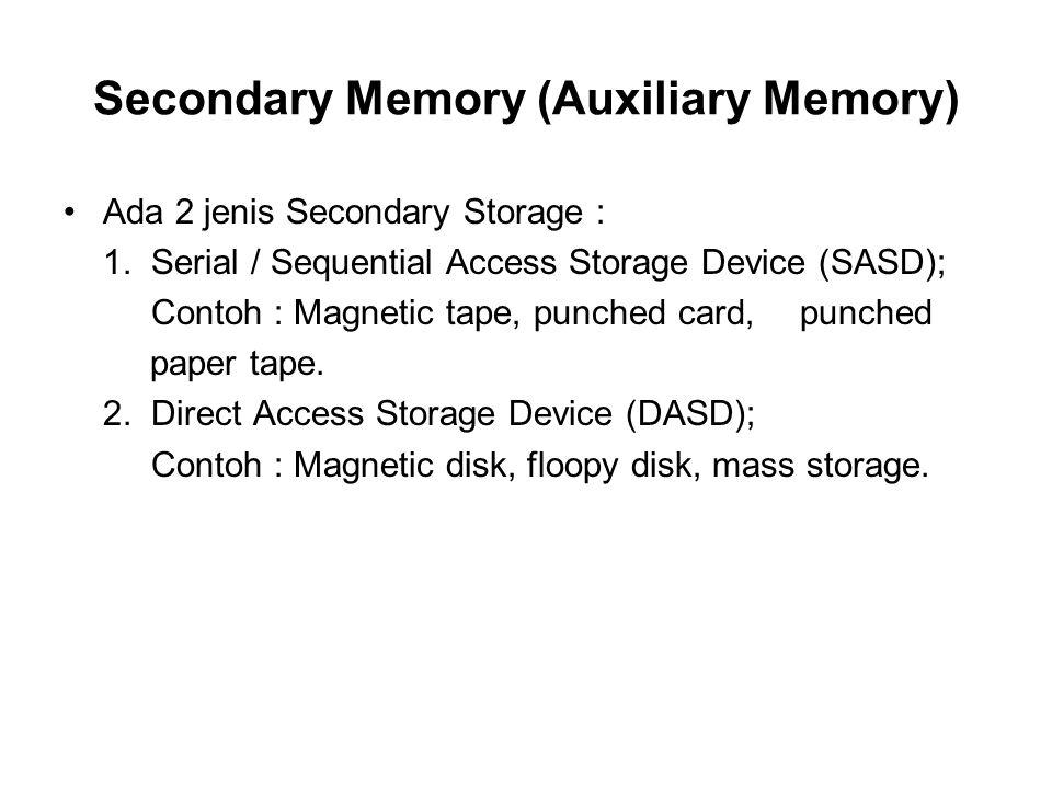 •Untuk mengakses, disk pack disusun pada disk drive yang didalamnya mempunyai sebuah controller, access arm, read / write head dan mekanisme untuk rotasi pack.