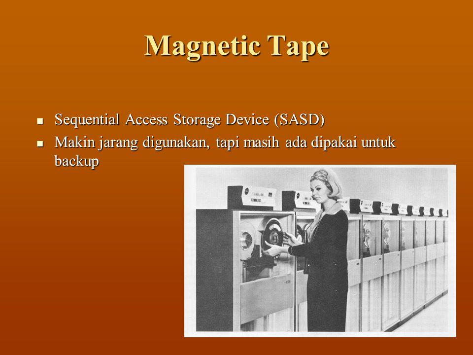 Magnetic Tape SSSSequential Access Storage Device (SASD) MMMMakin jarang digunakan, tapi masih ada dipakai untuk backup