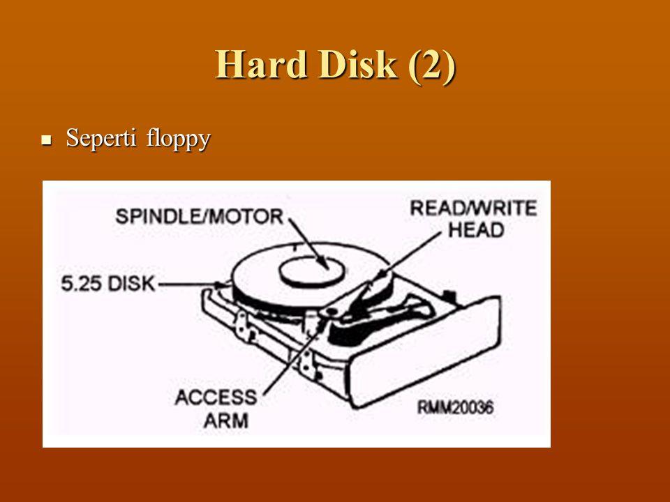 Hard Disk (2)  Seperti floppy