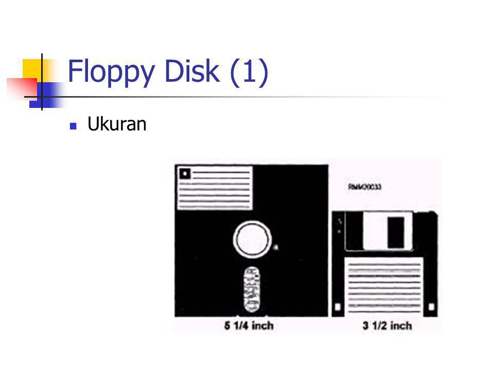 Floppy Disk (2)  Formatting  Soft-sector  Hard-sector  Kepadatan rekam  Single Density  Double Density  Quad Density  High Density  Sisi rekam  Single Side  Double Side