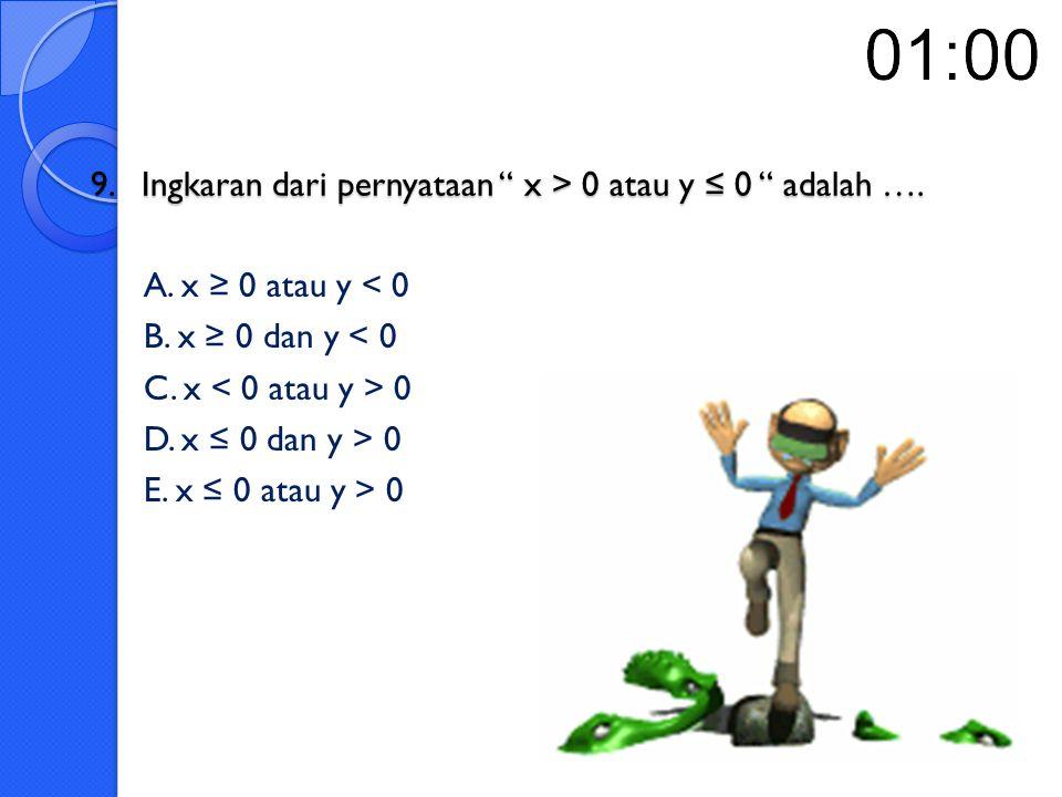 """8. Negasi dari pernyataan """" Ibukota RI adalah Jakarta dan Ibukota Jawa Barat adalah Bandung"""" adalah …. 8. Negasi dari pernyataan """" Ibukota RI adalah J"""
