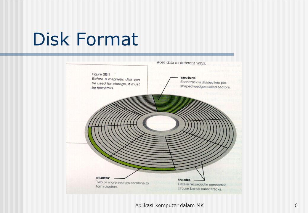 Aplikasi Komputer dalam MK6 Disk Format