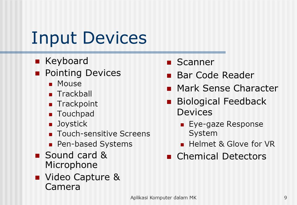 Aplikasi Komputer dalam MK10 Pointing Devices