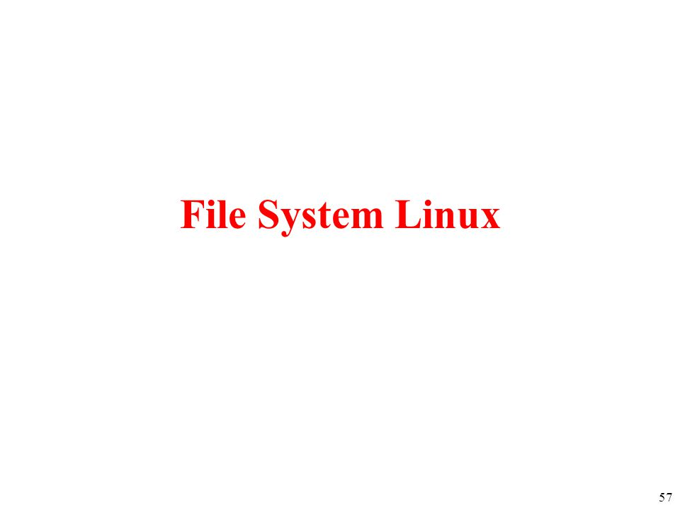 57 File System Linux