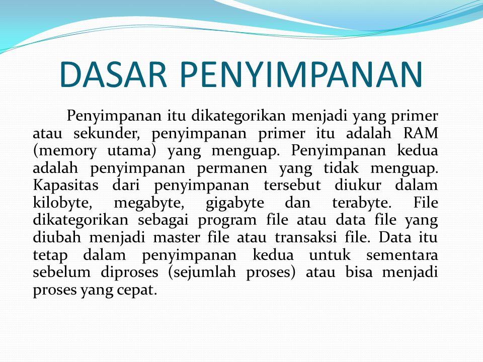 CARA MERAWAT DISKET  Jangan menyentuh permukaan disket  Menghandle disket 5 ¼ inch dengan hati-hati  Hindari keadaan lingkungan fisik yang membahayakan disket
