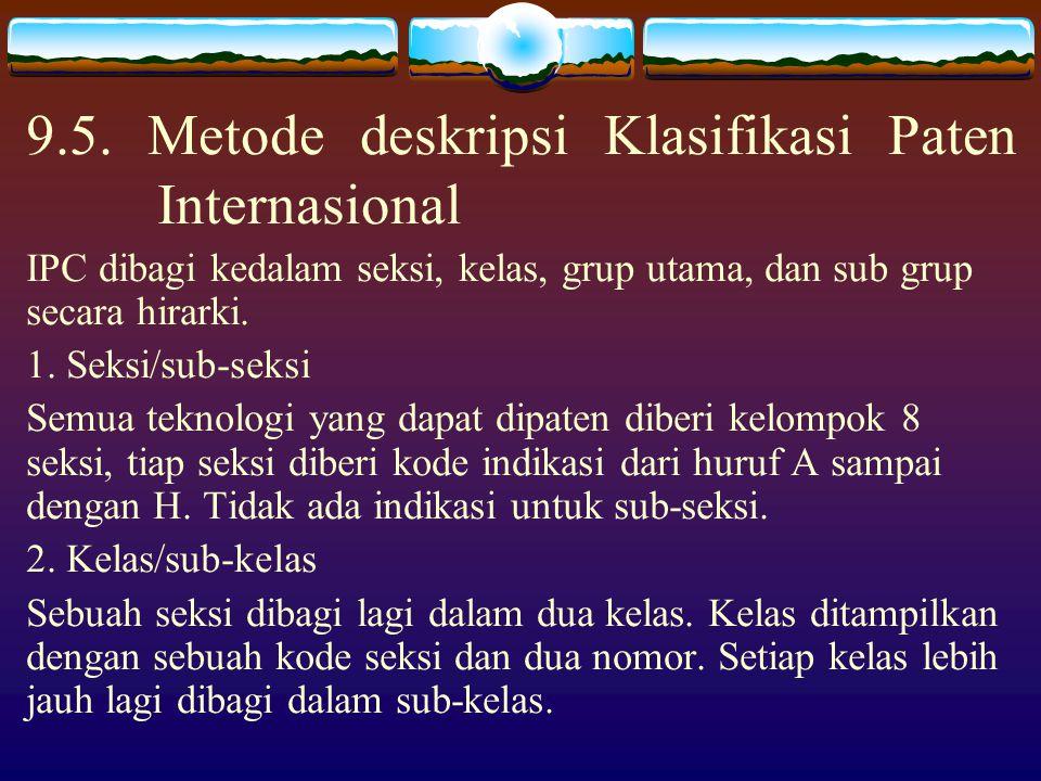 9.4. Bagaimana mencari klasifikasi yang relevan Pada dasarnya ada dua metode yang berbeda: 1. Melakukan penelusuran pada catchword index dan/atau teks