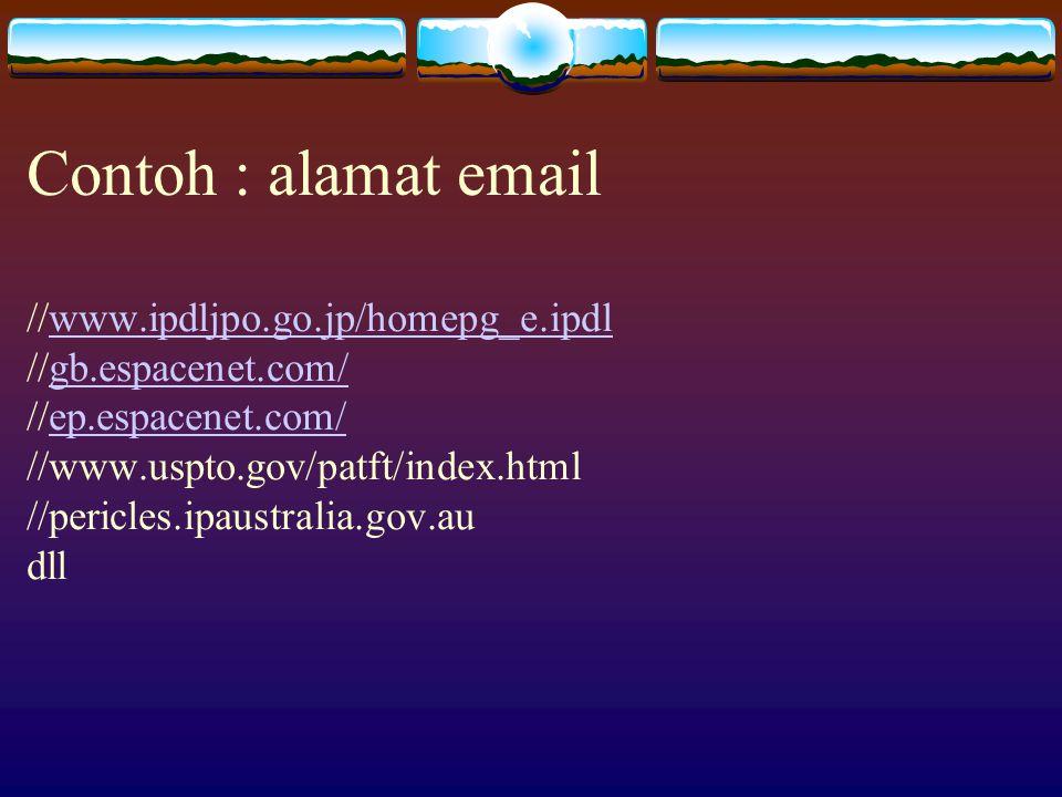 5.Perangkat Penelusuran  Sumber dokumen pembanding yang tersedia pada Kantor Paten.