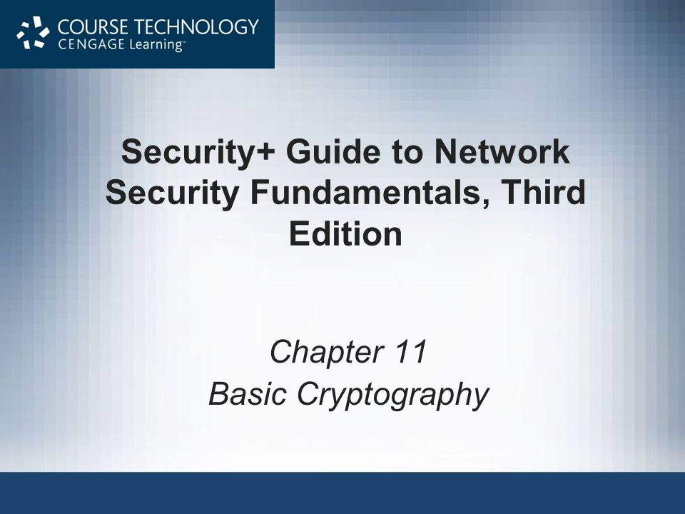 Security+ Guide to Network Security Fundamentals, Third Edition32 Asymmetric Cryptographic Algorithms (continued)