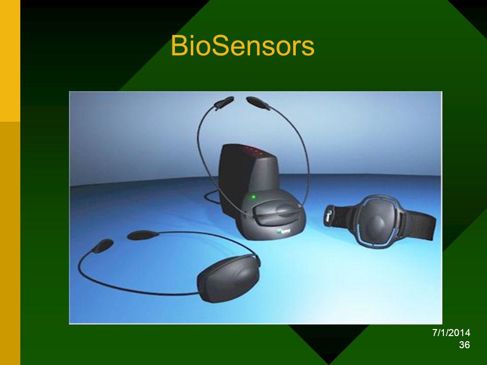 7/1/2014 36 BioSensors